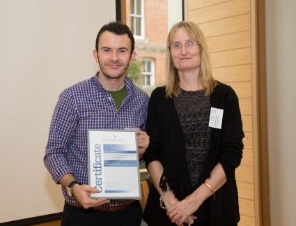 Michael Duignan and Dr Marion Stuart-Hoyle, Chair of ATHE
