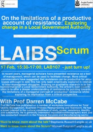17 Feb, LAIBS Scrum - 'Resistance , Change and LGA' (FINAL)