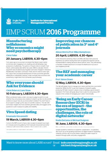 IIMP SCRUM 2016