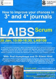 LAIBS Scrum - How to improve your chances in 3 and 4 star journals (28 Jan, 3-4-30, LAB109)